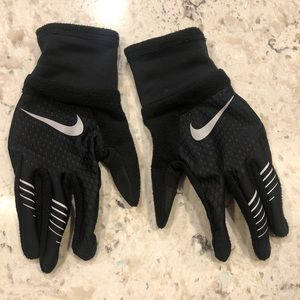 Nike black running gloves